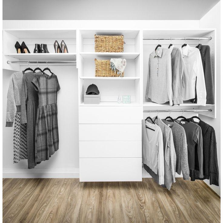 Modular Closets Wood Shelf Tower Closet Organizer Section
