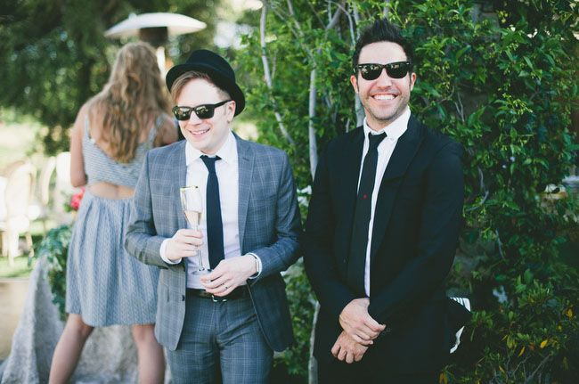 Patrick Stump and Pete Wentz at Brendon & Sarah Urie's wedding. Pete's face XD