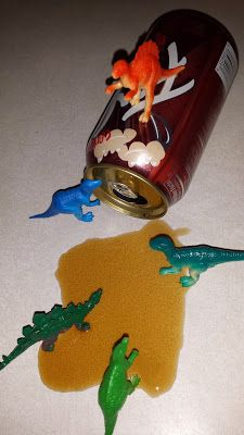 S Squared: Dinovember Day 9 Dinosaurs enjoy a root beer
