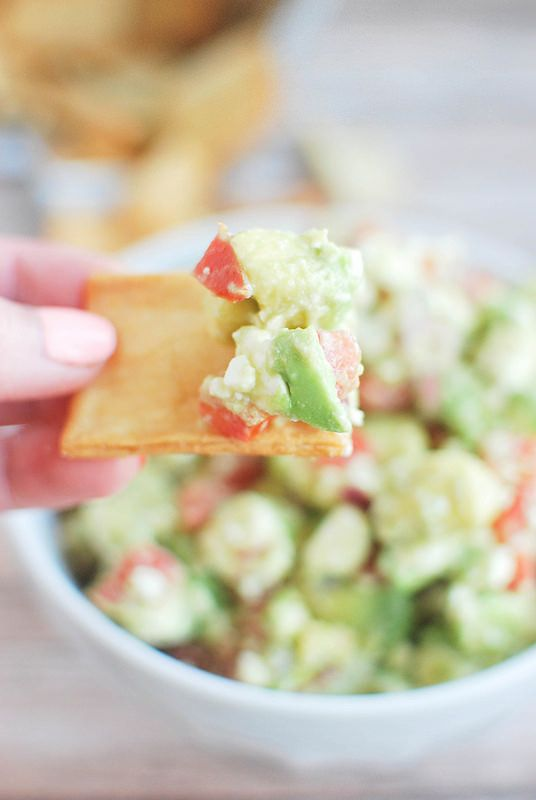 Avocado Feta Salsa - you won't believe how delicious this dip is! Serve with pita chips for the perfect party food!