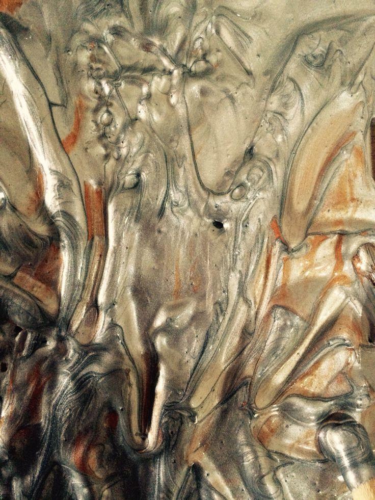 Silver acrylic texture