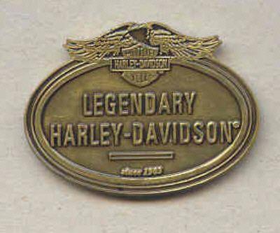 Złota odznaka Harley Davidson