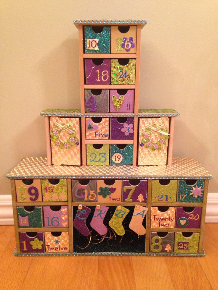 Chimney advent calendar kaiser craft purple and gold - Pinterest advent ...