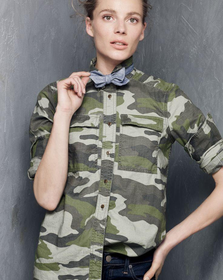 J.Crew women's camo shirt, and toothpick Cone Denim!!!  WOAAAAHHHHH I LOVE THESE!!!!!!!!