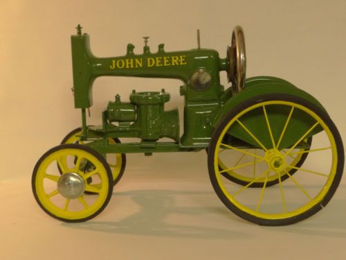 Folk Art Hand Made John Deere Sewing Machine Tractor One of A Kind | eBay