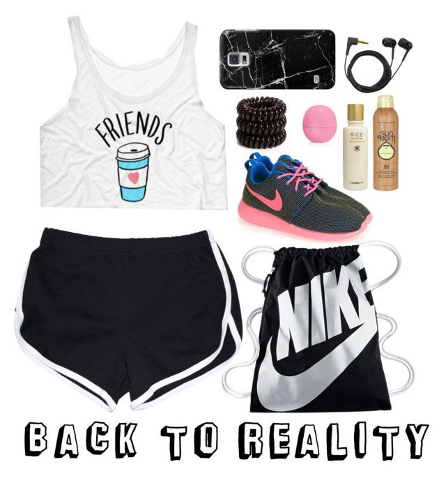 """""""#HIWO 1"""" by wennynagane on Polyvore featuring NIKE, Casetify, Sennheiser, Invisibobble, Sun Bum, The Face Shop, Eos and HIWO"""