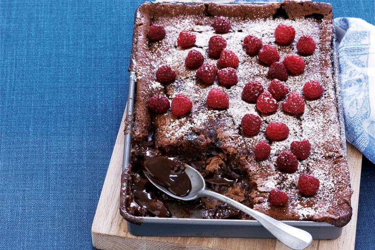 So delicious! Choc-caramel self-saucing pudding mmmm