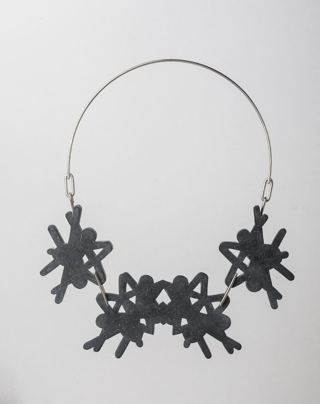 Necklace by Ana Marchetanu Invasive collection FW 2015 #contemporaryjewelry