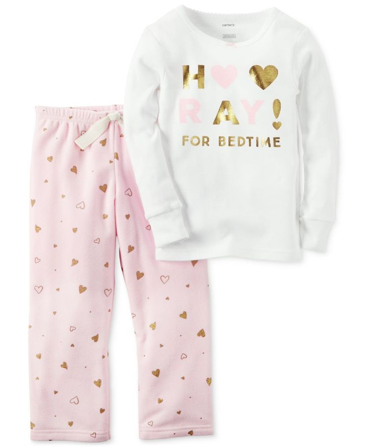 Carter's 2-Pc. Hooray For Bedtime Pajama Set, Little Girls (2-6X) & Big Girls (7-16)