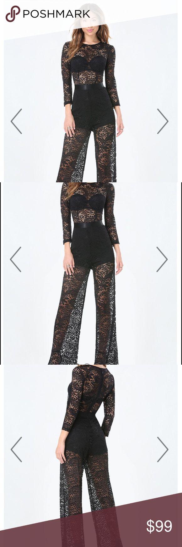 Bebe Black Lace Jumpsuit New without tags. Sz XS bebe Pants Jumpsuits & Rompers