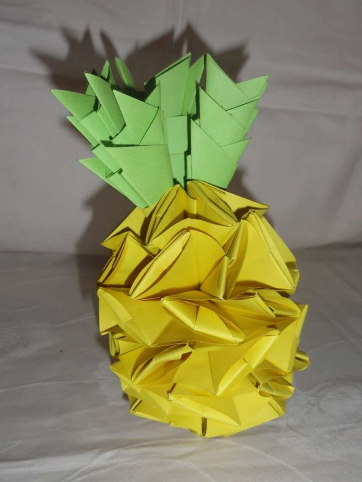 Origami per bambini - Ananas origami