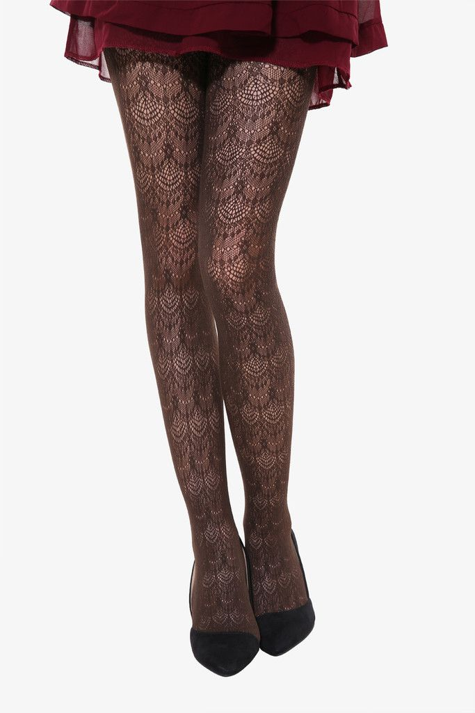Peacock Tails Tights In Brown. Free 3-7 days expedited shipping to U.S. Free first class word wide shipping. Customer service: help@moooh.net