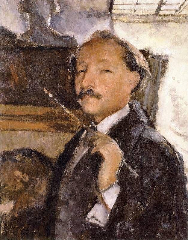 Wojciech Weiss - Autoportret w pracowni, 1925