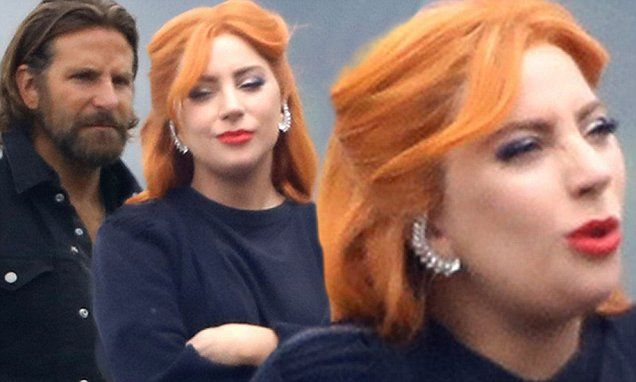 Lady Gaga Dyes Her Tresses A Fiery Color Lady Gaga Hair Lady Gaga Makeup Lady Gaga
