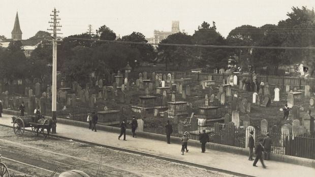 Central station was built on land previously occupied by the Devonshire Street Cemetery.