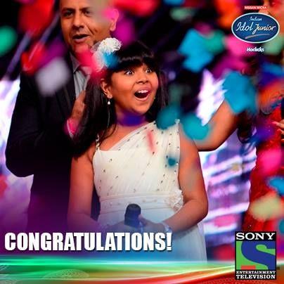 Anjana Padmanabhan - the First Indian Idol Junior Winner 2013