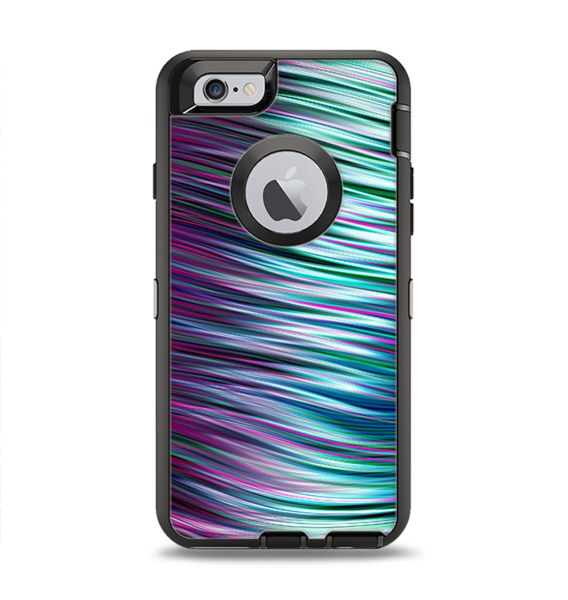 The Pink & Blue Vector Swirly HD Strands Apple iPhone 6 Otterbox Defender Case Skin Set
