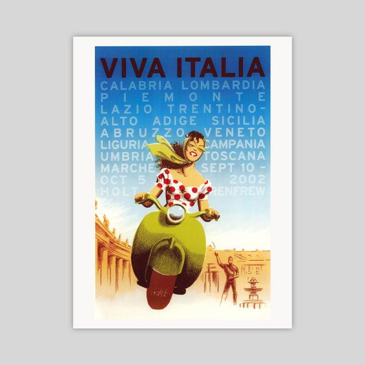 Viva Italia vintage travel poster | hardtofind.
