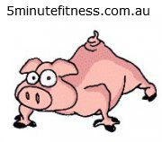 This little piggy does pushups!