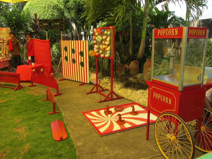 carnival signs template | We had the supplier repaint the game booths in red and white to match ...