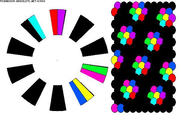 K3549 - 20 strand  8 colour blooming kumi pattern