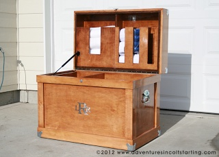 Adventures In Colt (Filly) Starting: DIY Tack Trunk Plans