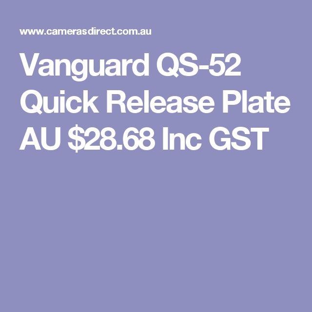 Vanguard QS-52 Quick Release Plate  AU $28.68 Inc GST