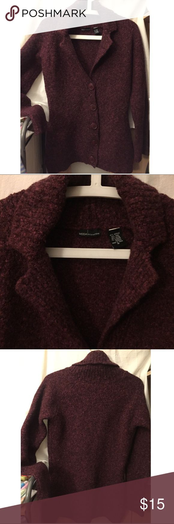 "SALE! Victoria Secret-Moda cardigan sweater Boucle cardigan sweater from Victoria Secret-Moda International- very soft and very warm; 27 1/2""L Victoria's Secret Sweaters Cardigans"