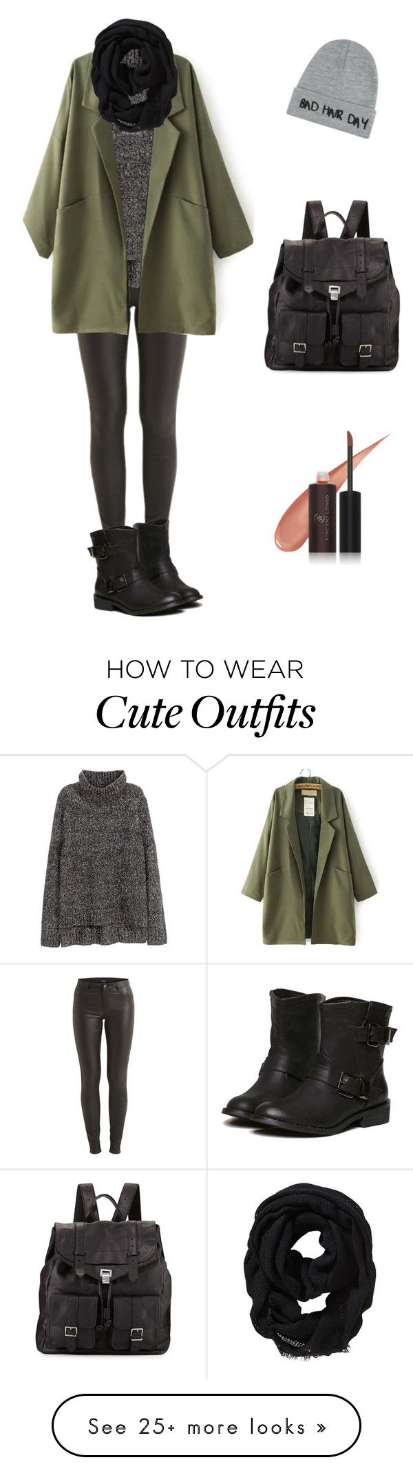 """Cute Autumn Outfit"" by shortbrunette on Polyvore featuring VILA, H&M, Proenza Schouler, Local Heroes, Old Navy and Vincent Longo"