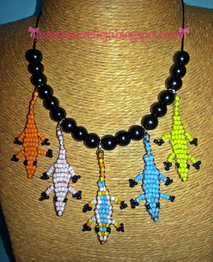 Collar lagartijas #diynecklaces