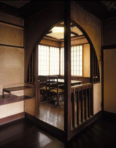 聴竹居-食堂:入口