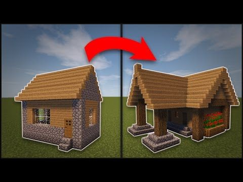 Minecraft: How To Remodel A Village Library - YouTube