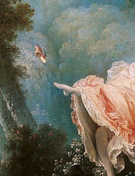 Jean-Honoré Fragonard, The Swing (French: L'escarpolette), detail, 1767