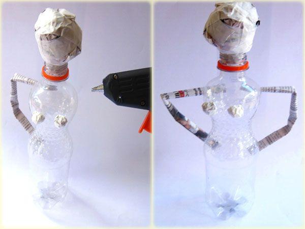 passo2 boneca garrafa jornal