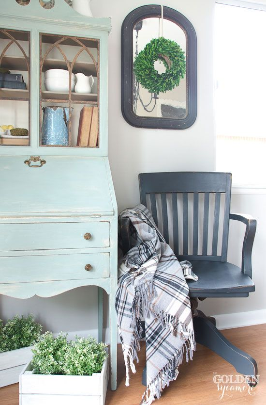Vintage black office chair makeover