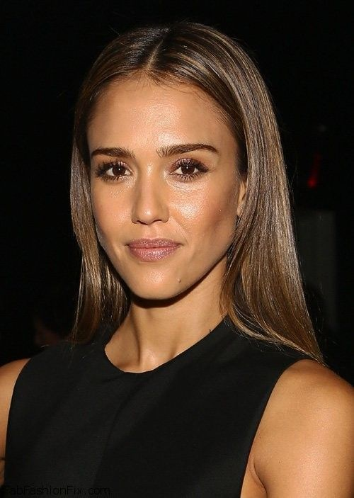 Jessica Alba really like this brown/ natural makeup look