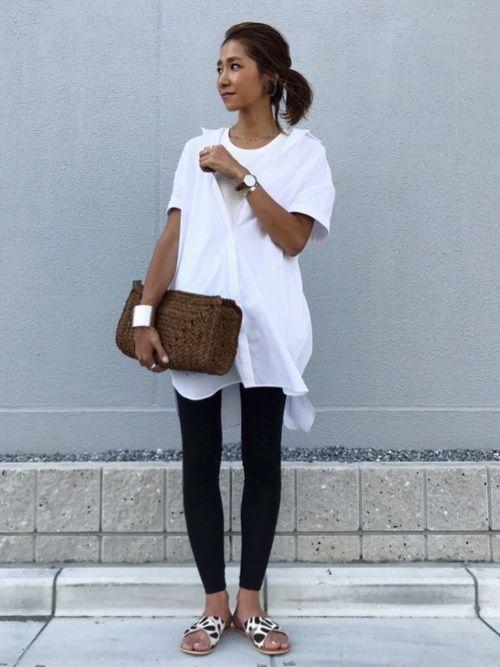 シャツはZARAで最近買いました☺︎ レギンスはH&Mのキッズの物を履いてます☺︎ Instagr