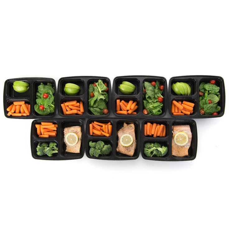 Meal Prep Haven 3-Compartment Food Containers with Lids for Portion Control