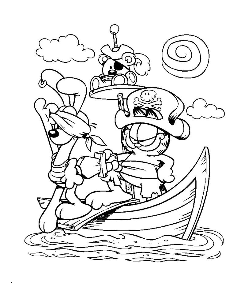 garfield and friends coloring page