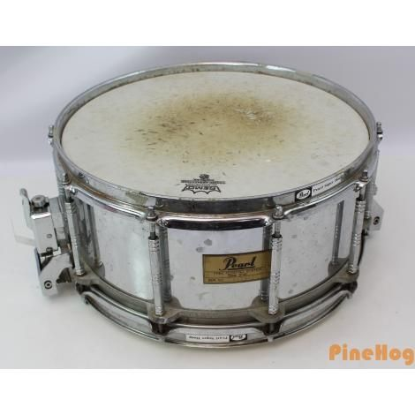 For Sale: Pearl 6inch x 14inch Free Floating System Snare Drum Steel Shell Super Hoops
