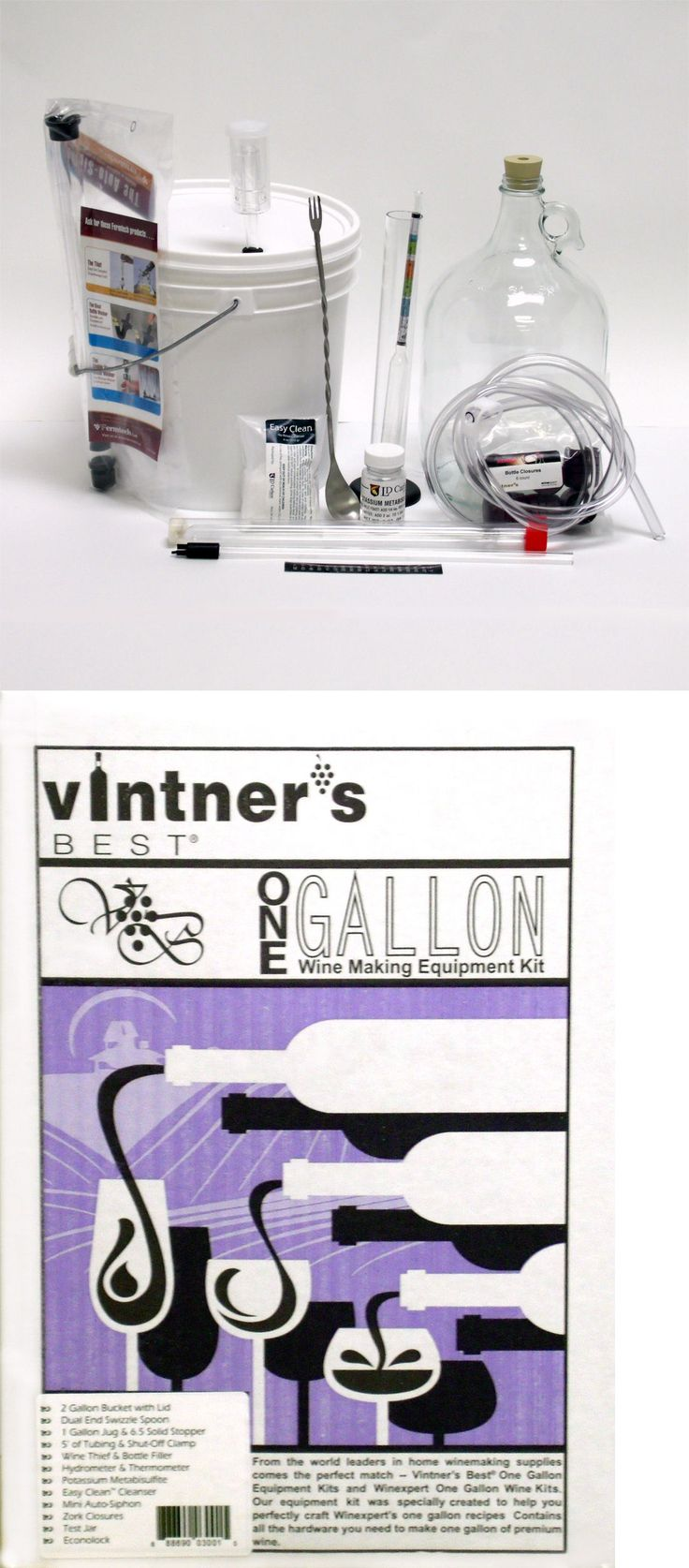 Beer and Wine Making 38172: 1 Gallon Vintners Best Deluxe Wine Mead Making Equipment Kit -> BUY IT NOW ONLY: $46.95 on eBay!