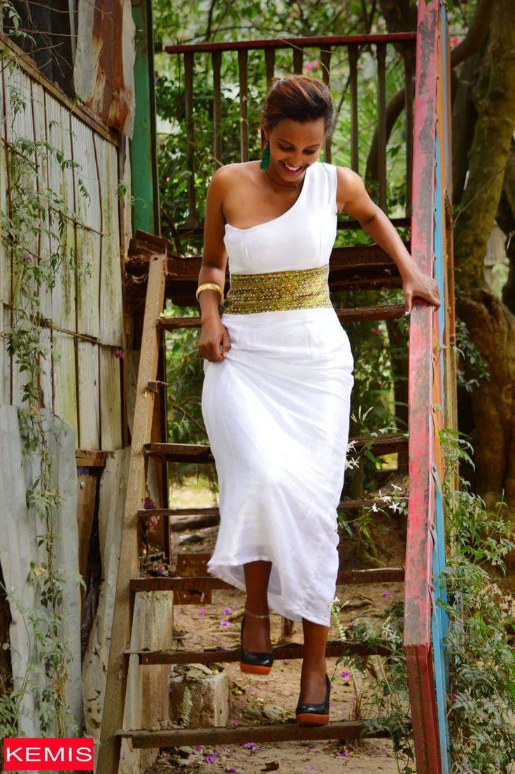 Ethiopian Eritrean habesha dresses wedding traditional modern clothing Kemisd by kemisd on Etsy