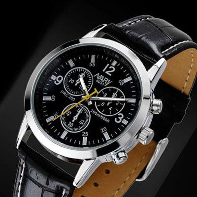 Luxusné pánske hodinky Nary v čiernej farbe. Sleduje svoj čas štýlovo s týmito luxusnými hodinkami v čiernej farbe. Hodinky Nary Vás uchvátia svojim vkusným, elegantným a nadčasovým dizajnom. Remienok je vyrobený z čiernej kože. Pokiaľ chcete spestriť svoj outfit a sledujete aktuálne módne trendy, tieto hodinky sú určené práve pre Vás. http://www.luxusne-doplnky.eu/