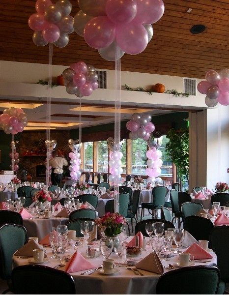 17 best images about centerpieces balloon and otherwise for Ballon wedding decoration