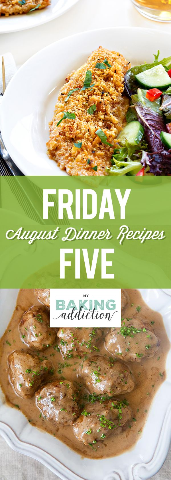 Friday Five: Favorite Dinner Recipes From August