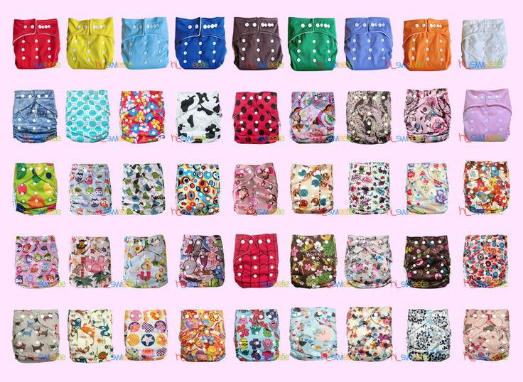 U PICK Solid Printed AIO Size Baby Newborn cloth diapers pocket Nappies inserts in Baby, Diapering, Cloth Diapers | eBay