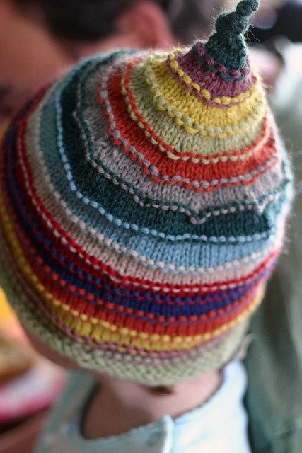 from Itty-Bitty Hats, what a great way to use up bits of yarn!.