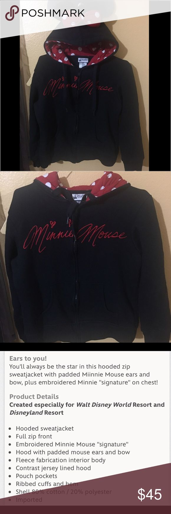Minnie Mouse Ears Sweater Refer to 3rd picture for full description.  Used twice only.  Purchased at Disneyland...the perks of having a Disney yearly pass ❤️ open to offers. Sweaters