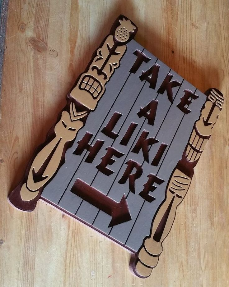 Tiki Bar Take a Liki 3D routed wood Island Beach Pool Bar Sign | Collectibles, Cultures & Ethnicities, Hawaiian | eBay!