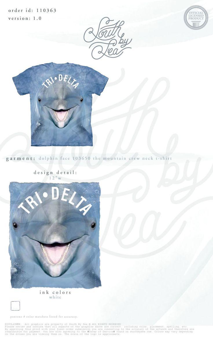 Delta Delta Delta | Tri Delta | Dolphin T-Shirt Design | South by Sea | Greek Tee Shirts | Greek Tank Tops | Custom Apparel Design | Custom Greek Apparel | Sorority Tee Shirts | Sorority Tanks | Sorority Shirt Designs